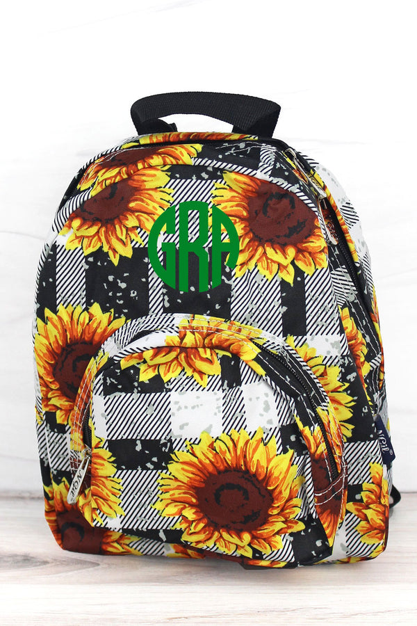 Sunflower Plaid Small Backpack