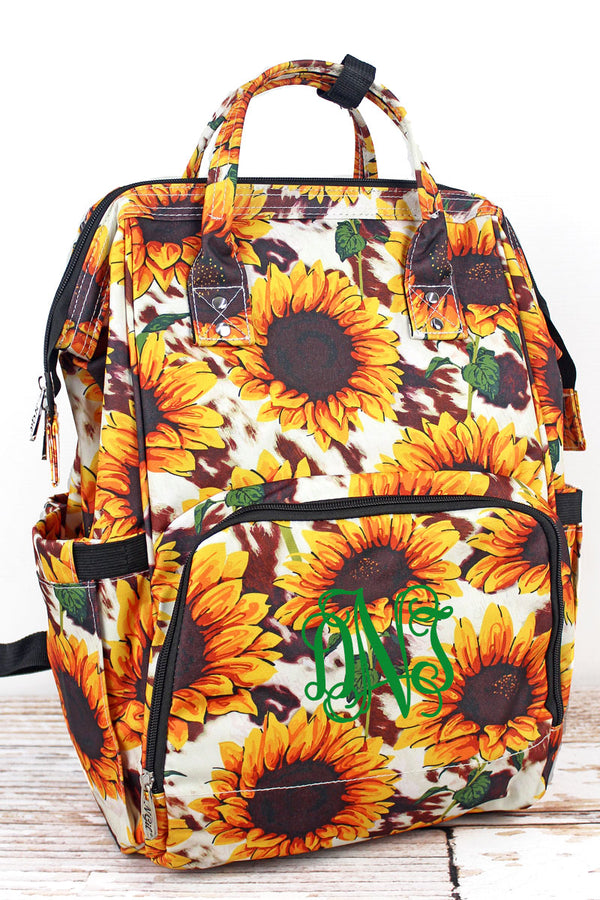 Sunflower Farm Diaper Bag Backpack