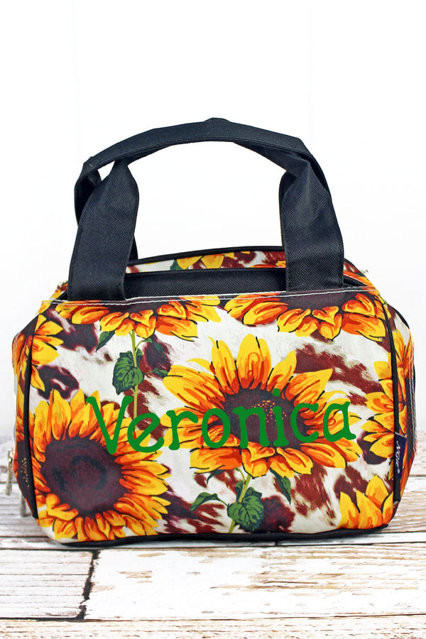 Sunflower Farm Insulated Bowler Style Lunch Bag