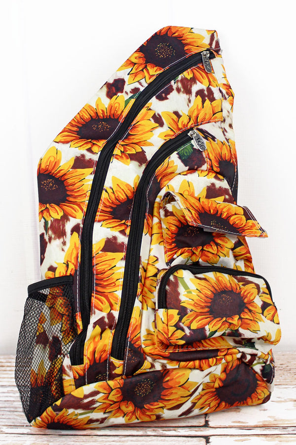 Sunflower Farm Sling Backpack