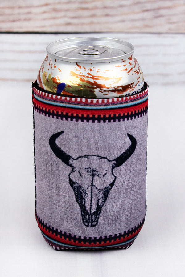 Desert Steer Skull Drink Sleeve