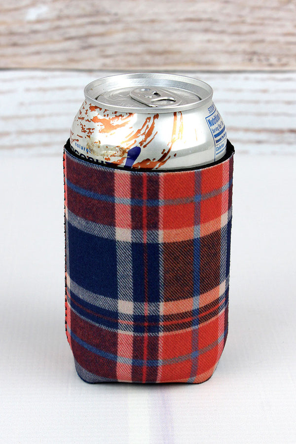 Fall Plaid Drink Sleeve