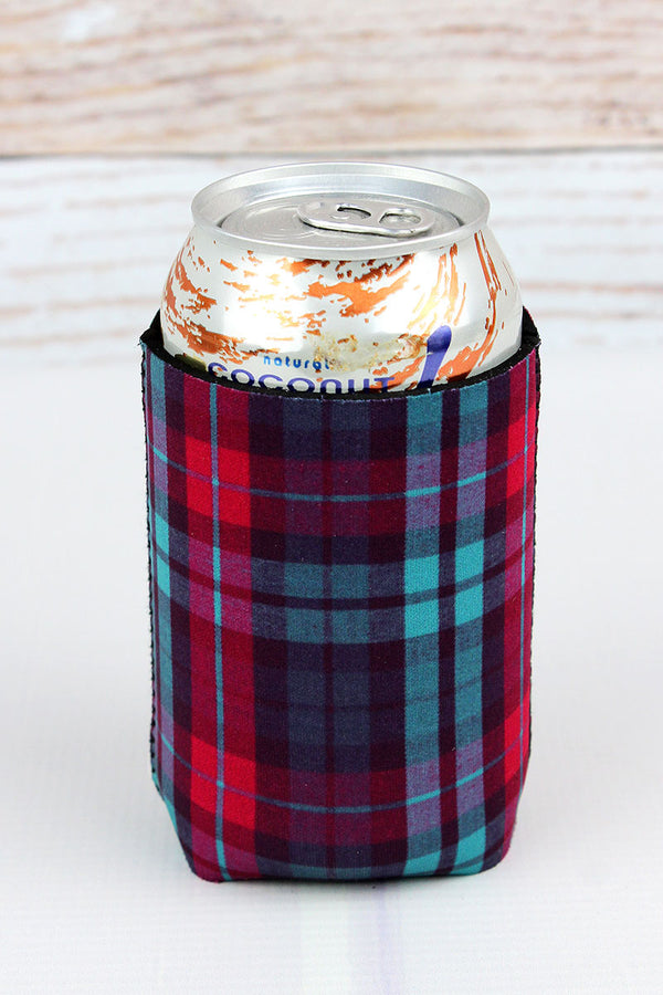 Holiday Plaid Drink Sleeve