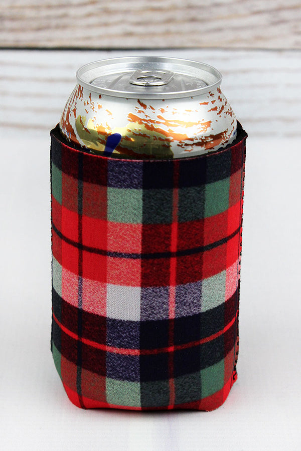 Harvest Plaid Drink Sleeve