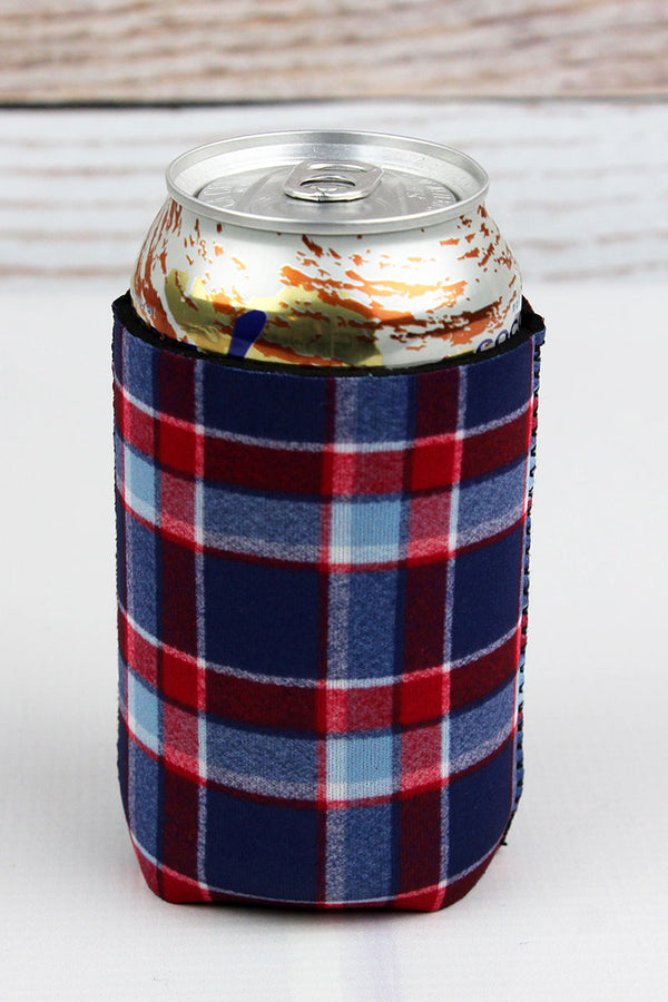 Fiery Sky Plaid Drink Sleeve