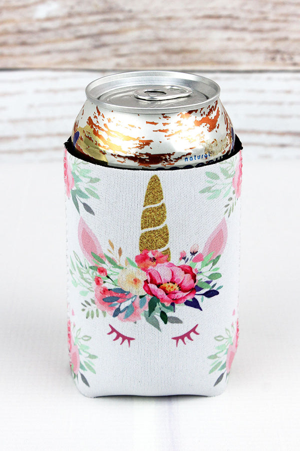 Floral Unicorn Drink Sleeve