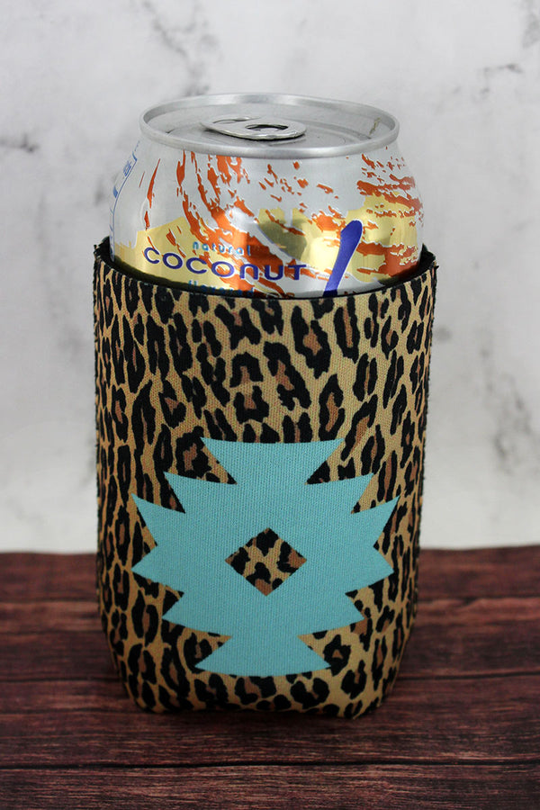 Mint Navajo Star Leopard Drink Sleeve