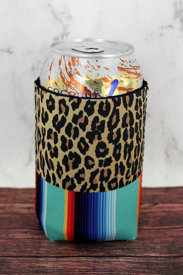 Leopard and Mint Serape Drink Sleeve