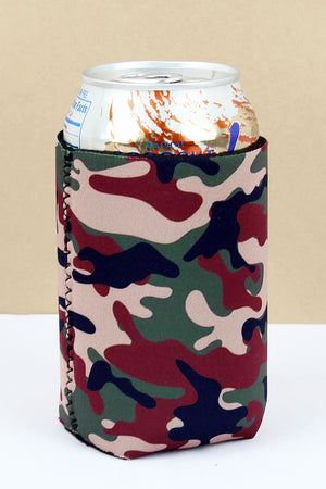 Woodland Camo Drink Sleeve