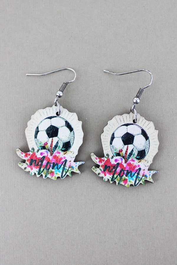 Soccer Mom Wood Earrings
