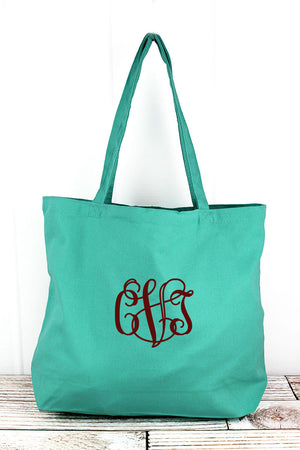 Liberty Bags Sea Glass Green Large Canvas Tote3