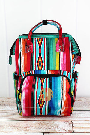 Southwest Serape Diaper Bag Backpack