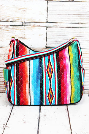 Southwest Serape Quilted Shoulder Bag