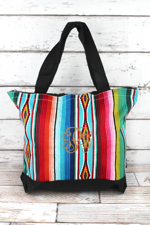 Southwest Serape with Black Trim Tote Bag