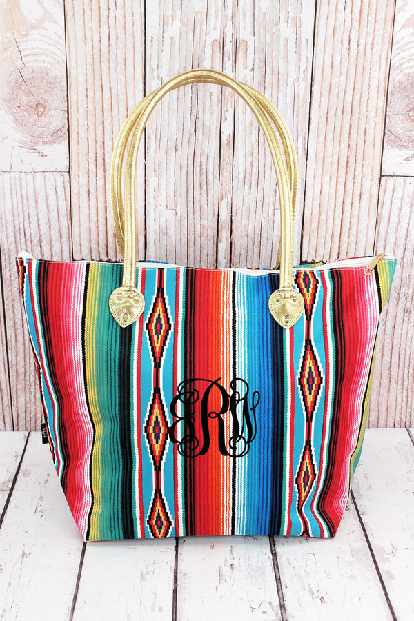 Southwest Serape Shoulder Tote