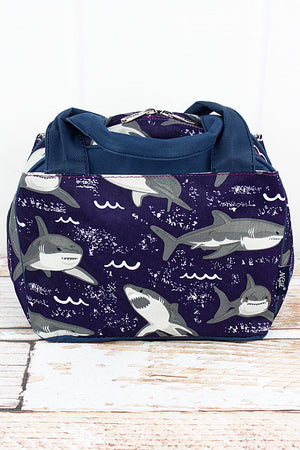 Fintastic Sharks Insulated Bowler Style Lunch Bag