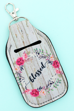 Blessed Hand Sanitizer Holder Keychain