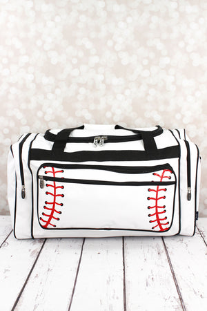 Baseball Laces Duffle Bag with Black Trim 23""