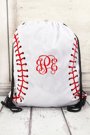 Baseball Laces Drawstring Backpack