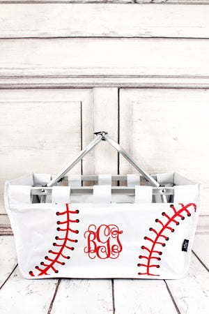 Baseball Laces Collapsible Market Basket