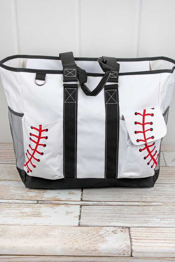 Baseball Laces Everyday Organizer Tote