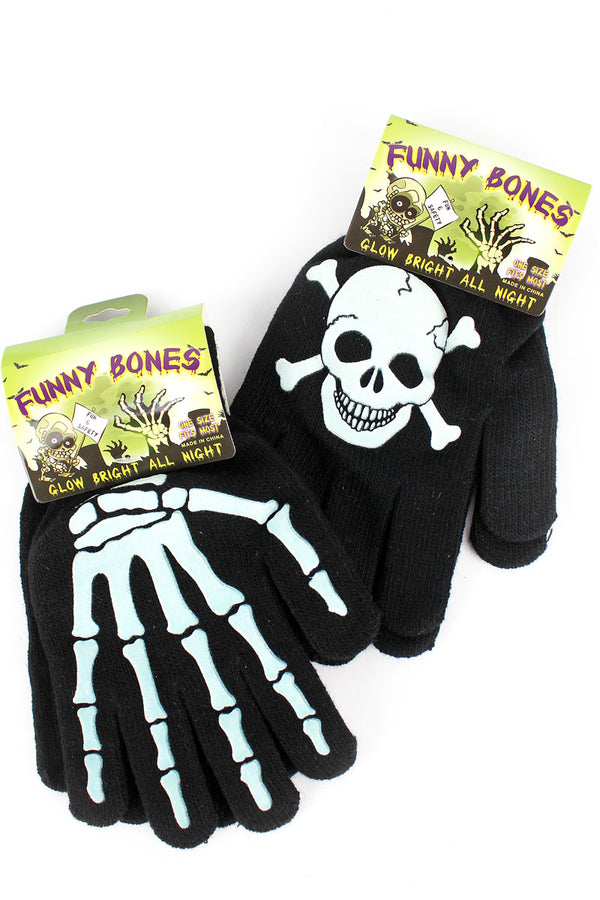 One Funny Bones Glow-In-The-Dark Gloves - SHIPS ASSORTED