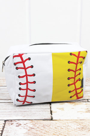 Split Baseball & Softball Laces Cosmetic Case