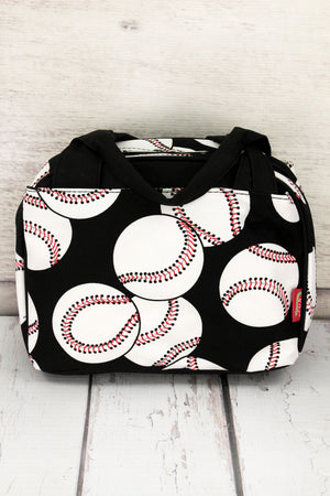 Baseball Insulated Bowler Style Lunch Bag