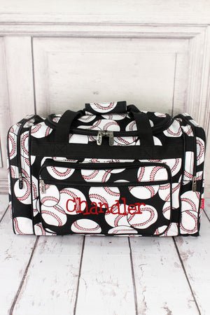 "Baseball Duffle with Black Trim 20"" #SKQ420-BLACK"