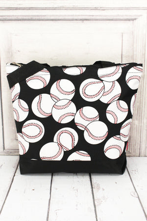 Baseball with Black Trim Tote Bag