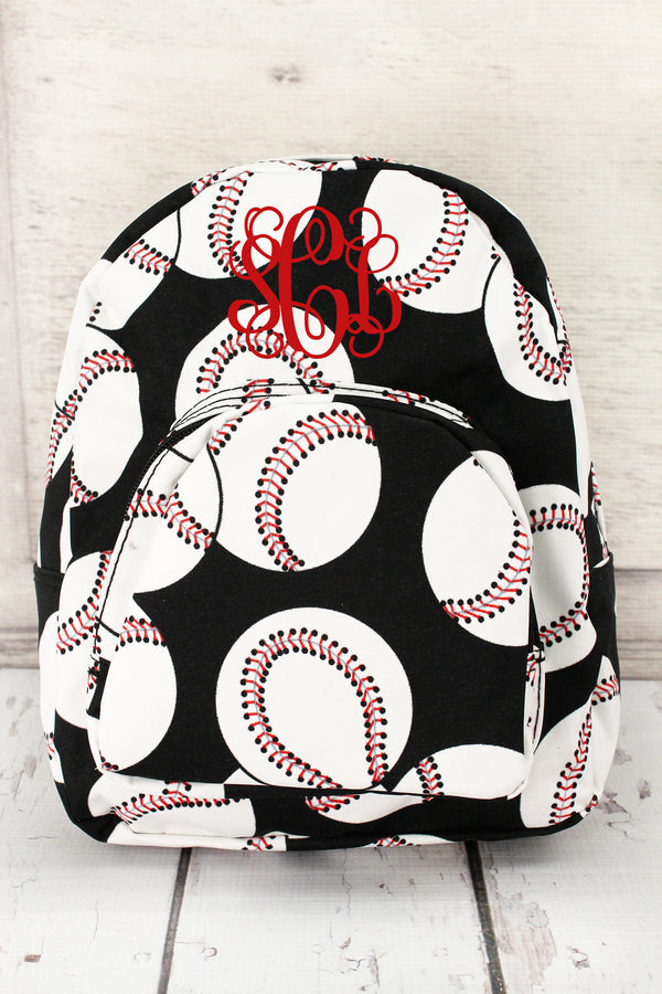Baseball Small Backpack #SKQ828-BLACK
