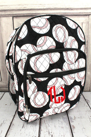 Baseball Quilted Oversized Backpack