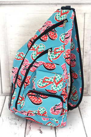 Flip Flop Fun Sling Backpack #SLA736-NAVY