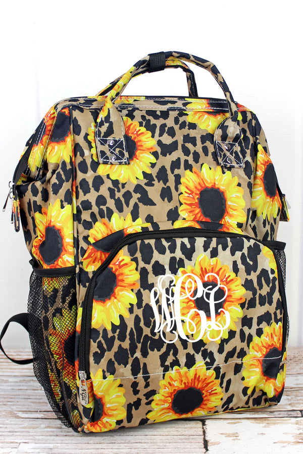 Sunflower Leopard Casual Backpack