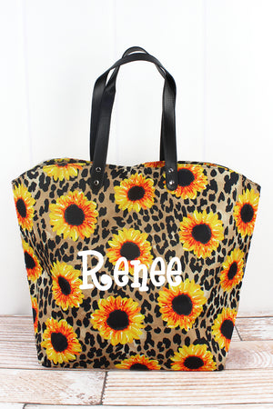 Sunflower Leopard All Day Tote