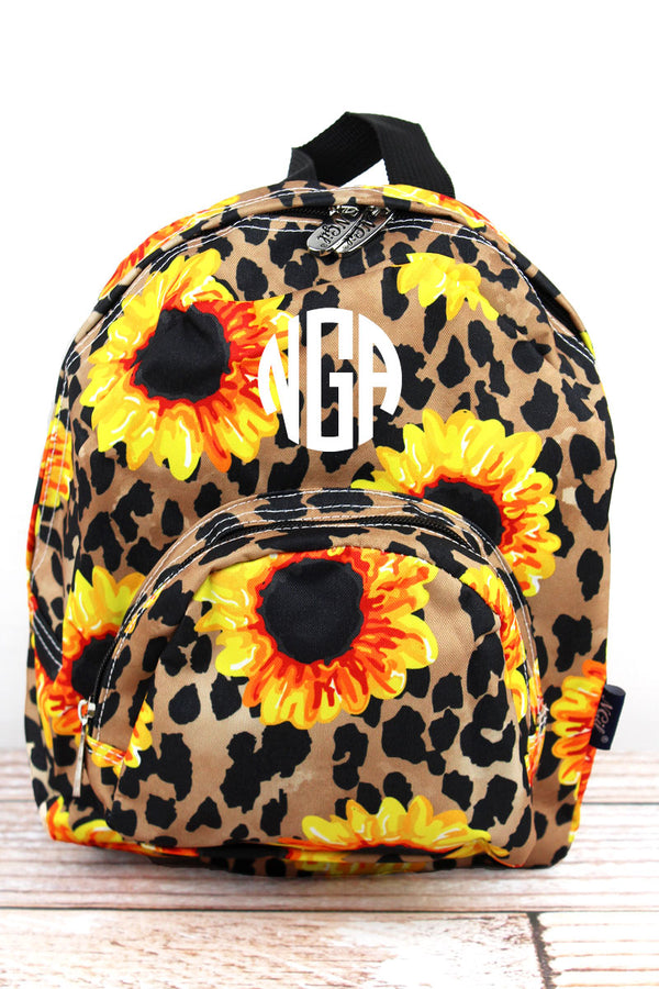 Sunflower Leopard Small Backpack
