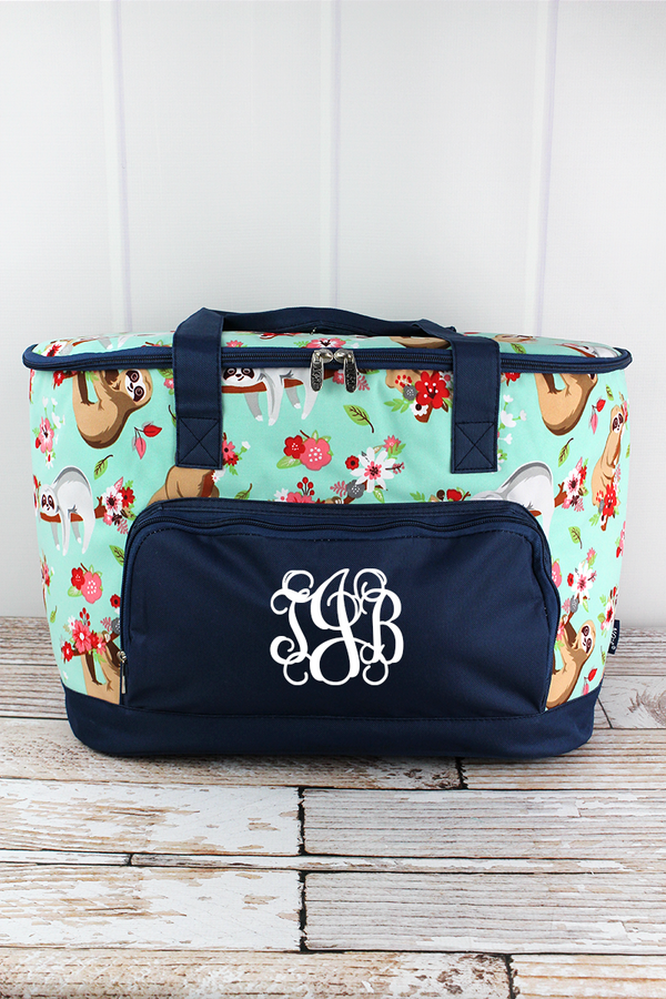 Hang In There and Navy Cooler Tote with Lid