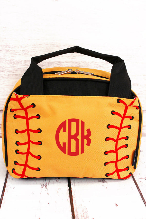 Softball Laces Insulated Bowler Style Lunch Bag
