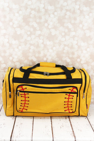 Softball Laces Duffle Bag with Black Trim 23""