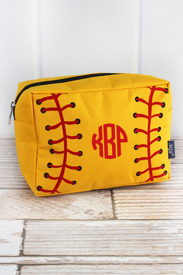 Softball Laces Cosmetic Case