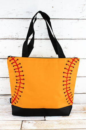 Softball Laces with Black Trim Tote Bag