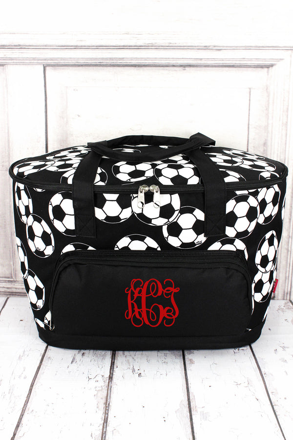 *Soccer Cooler Tote with Lid #SOC89-BLACK