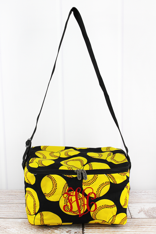 Softball Insulated Shoulder Lunch Bag