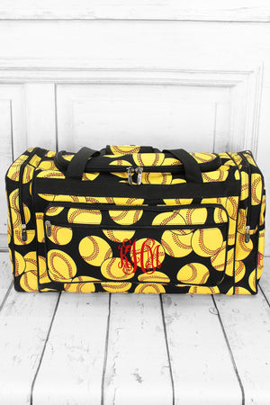 Softball Duffle Bag with Black Trim 23""