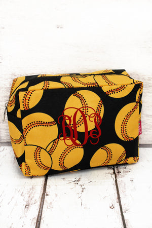 Softball Cosmetic Case #SOF613-BLACK