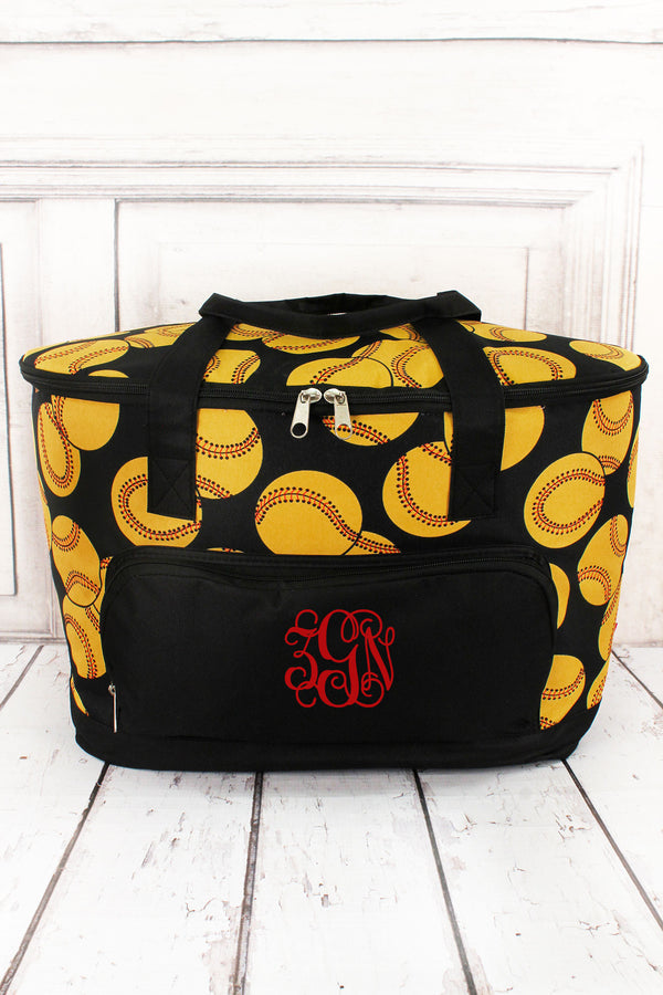 Softball Cooler Tote with Lid #SOF89-BLACK