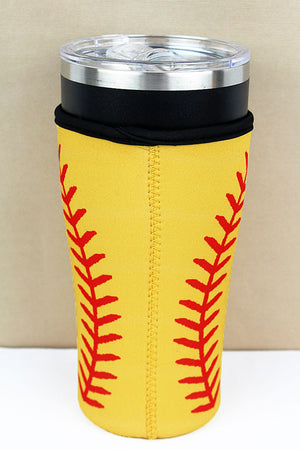 Softball Tumbler Drink Sleeve