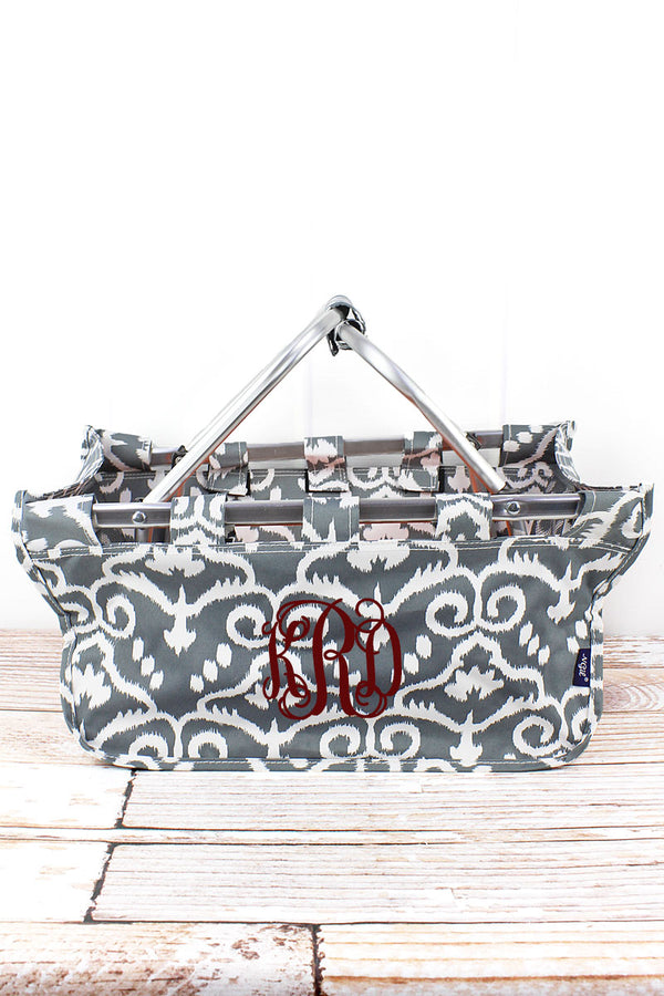 Dizzy Damask Collapsible Market Basket