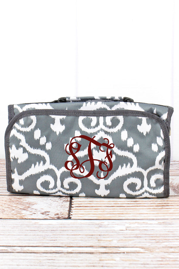 Dizzy Damask Roll Up Cosmetic Bag