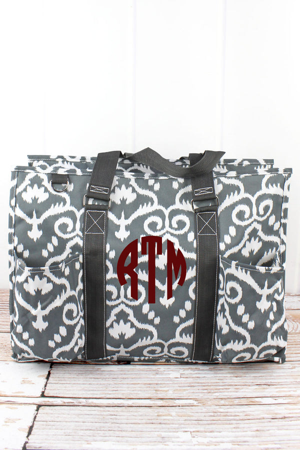 Dizzy Damask with Gray Trim Large Organizer Tote